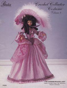 1780 Gainsborough Lady Vol 8 Mode Puppe Kleidung Crochet