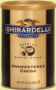 Ghirardelli Chocolate Baking Cocoa, Unsweetened Cocoa, Cans, 10 oz