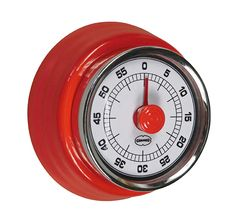 Various colours, like Scarlet Red Retro 7, Cooking Timer, Scarlet, Home Accessories, Colours, Vintage Geïnspireerde, Retro Design, Unisex, Red