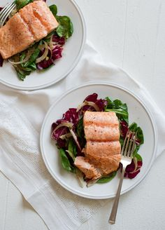 Pan-Roasted Salmon w/Orange Vinaigrette