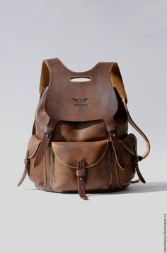 purses and  handbags leather Brown Leather Backpack, Leather Luggage,  Leather Pouch, eb5615375c