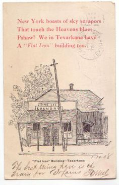 Texarkana, AR Arkansas 1908 Comic Postcard Texarkana, TX Texas