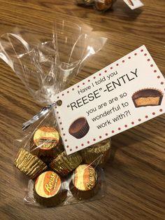 Co-worker appreciation - Co-worker appreciation - Employee Appreciation Gifts, Employee Gifts, Teacher Appreciation Week, Staff Gifts, Volunteer Gifts, Teacher Treats, Teacher Gifts, Homemade Gifts, Diy Gifts
