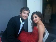 Lacey Mosley and Josh Sturm on the set of Beautiful Bride♡