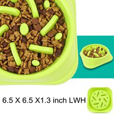 WenYing Slow Feeder Puzzle Dog Bowls, Interactive Bloat Stop Busy Bowl, Food Water Fun Feeding, Non-Slip Anti Choke Healthy Diet Bowls, Green Slow Feeder, Pet Feeder, Dog Food Bowls, Pet Bowls, Dog Eating, Base Foods, Dog Food Recipes, Image Link, Diet