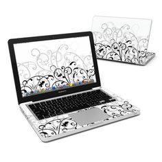 MacBook Pro 13in Skin - W Fleur by DecalGirl Collective
