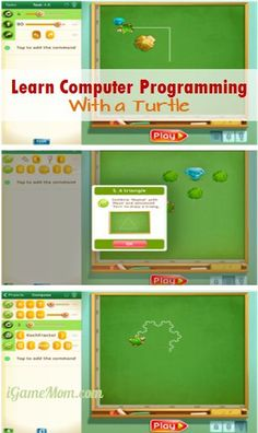 Learn computer programming with a fun turtle - With step by step guide, coding becomes an easy game. #kidsapps