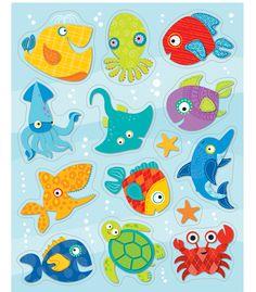 Seaside Splash Shaped Stickers (CD168151) #school #education #decorations