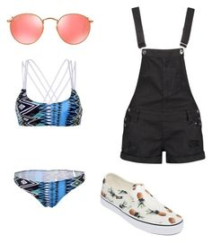 """Beach day"" by summerlovin10-1 on Polyvore featuring Ray-Ban, Vans, WithChic and Boohoo"