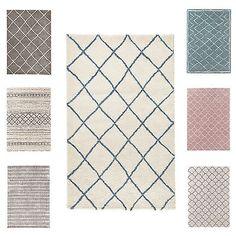 Eleganter Design Hochflor Teppich FEEL 160 x 230 cm Läufer Muster