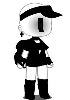 Chibi Girl Drawings, Kawaii Drawings, Cute Girl Outfits, Club Outfits, Character Outfits, Cute Anime Character, Creepy People, Arte Do Kawaii, Cute Fantasy Creatures