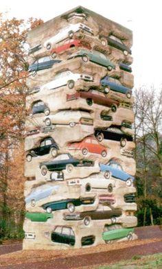 permanent parking structure sculpture! neat! Jean Tinguely, Marcel Duchamp, Alexander Calder, Oldenburg, Pop Art, Pablo Picasso, Art Plastique, Les Oeuvres, Around The Worlds