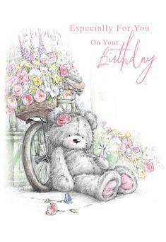 Happy Birthday Wishes Sister, Happy Birthday Notes, Birthday Wishes Flowers, Happy Birthday Wishes Cards, Happy Birthday Celebration, Happy Birthday Images, Birthday Pictures, Card Birthday, Tatty Teddy