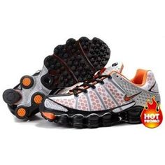 www.asneakers4u.com Mens Nike Shox TL3 White Orange
