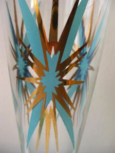 I have these! Not 8 though:(    (8 Vintage pilsner beer glasses turquoise aqua and by ImNOTaHoarder, $135.00)