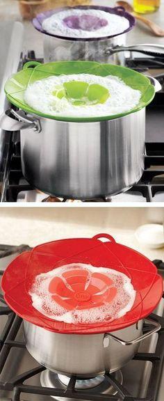 Silicone Pot Cover to Prevent Spills & Splatters ❤︎ #Brillant