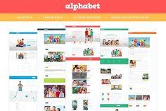 Alphabet - Education PSD Templates by LogoLabs on @creativemarket