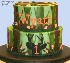 Camo/Deer Hunting Cake - Front Side