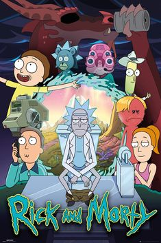 rick and morty characters Rick and Morty Poster Season 4 Rick And Morty Head, Rick And Morty Image, Rick And Morty Drawing, Rick And Morty Season, Rick And Morty Comic, Rick And Morty Quotes, Rick And Morty Poster, Rick And Morty Crossover, Ricky Y Morty