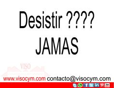 Desistir ??? JAMAS #visocym