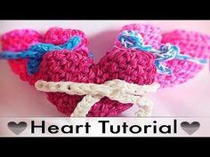 Rainbow Loom 3D Herz / Heart Valentine'S Day - YouTube