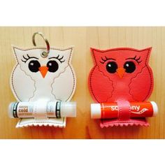 In The Hoop :: Owl Chapstick Holder - Embroidery Garden In the Hoop Machine Embroidery Designs