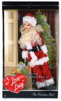 Collectible I Love Lucy Mattel Barbie dolls make perfect collector's items and play things for the avid Lucy fan. Barbie Funny, Barbie I, I Love Lucy Dolls, Christmas Shows, Mattel Dolls, Lucille Ball, Barbie Collector, Barbie Friends, Vintage Barbie