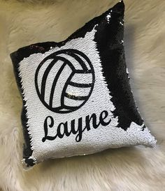 Volleyball magic flip sequins pillow Volleyball Designs, Mermaid Pillow, Sequin Pillow, Flipping, Customized Gifts, Swag, Sequins, Magic, Throw Pillows