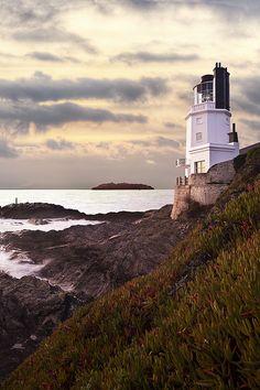 St. Anthony Lighthouse, Roseland Peninsula, Cornwall, England by Ray Bradshaw