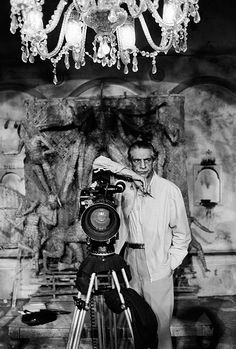 Satyajit Ray (Most likely on the sets of Joi Baba Felunath (not sure)
