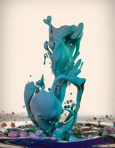 Tinta, óleo, água e outras substâncias misturadas proporcionam fotos incríveis Tinta e óleo 9 580x745