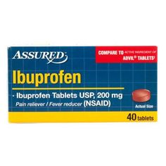 Assured Ibuprofen Tablets, 40 ct.