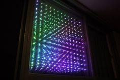 LED Matrix Infinity Mirror   Hackaday