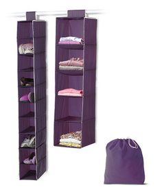 Eggplant Closet Set by homz #zulily #zulilyfinds