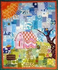 Image result for blue and green scrappy quilt