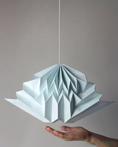 Cloud / Softest Blue Origami Cloud Mobile / by NANAZOOLAN on Etsy, $75.00
