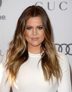 Khloe Kardashian Long Wavy Cut