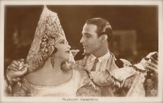 The Vintage Prophecy Postcards… Rudolph Valentino & Nita Naldi in A Sainted Devil (1924 Silent Film)