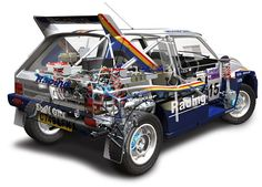 MG Metro 6R4 rally car - cutaway https://plus.google.com/+JohnPruittMotorCompanyMurrayville/posts