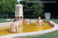 Triennale, Milano Design Week 2015.  De Chirico fountain.  #iSaloni #Expo2015