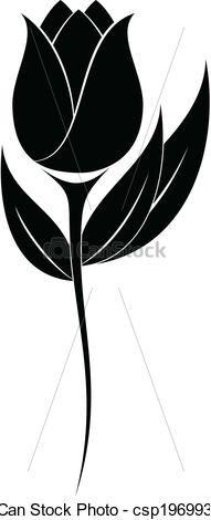 101 Gambar Siluet Bunga Tulip Paling Bagus