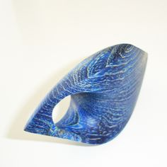 Yolande Duchateau - ring in stabilized and coloured wood - 2014