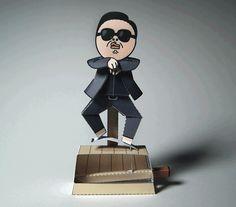 Construa um Psy de papel que até dança Gangnam Style!