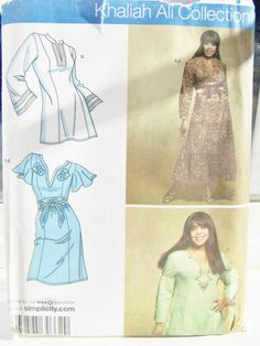 Simplicity 3869 Women's Sewing Pattern  Belted by WitsEndDesign