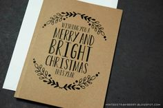 Free Printable Floral Christmas Card and some Customizable Tags @ mintedstrawberry.blogspot.com