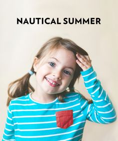 Hit the high seas or the local pool with nautical summer style!