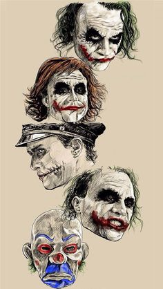 Jokers Faces #joker #faces #villains