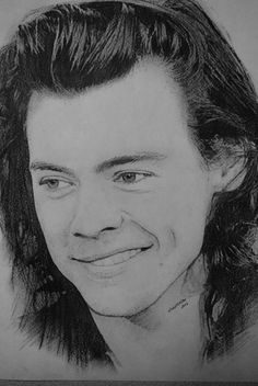 https://flic.kr/p/CPnQEd | Harry Styles | my charcoal and pencil sketch