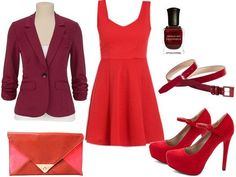 Jane Eyre red dress outfit.
