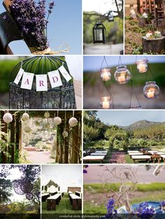 lavender and green